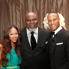 Meagan Good, T.D. Jakes and DeVon Franklin