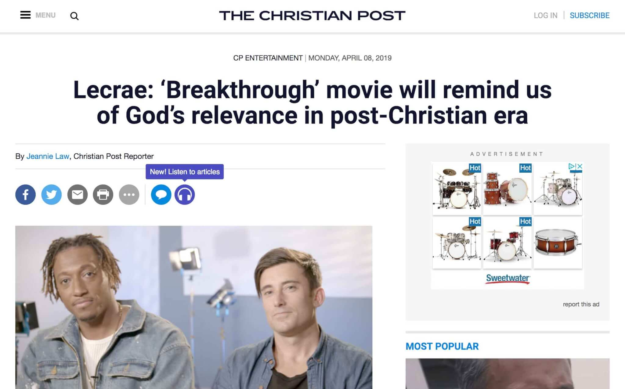 Lecrae and Phil Wickham Talk Breakthrough With Christian Post