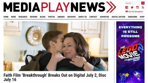 Breakthrough Featured on Media Play News