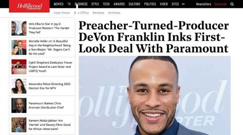 Preacher Turned Producer – The Hollywood Reporter