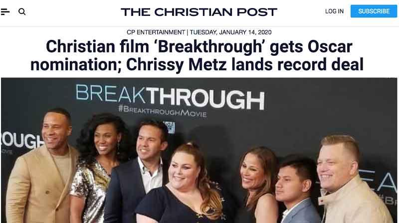 Breakthrough Oscar Nomination