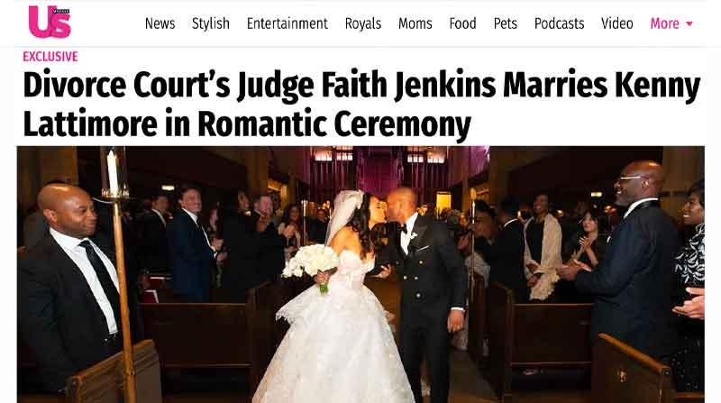 Devon Franklin Officiates Judge Faith Jenkins & Kenny Lattimore Wedding