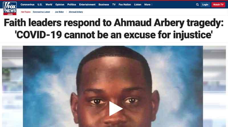 Faith Leaders Respond to Ahmaud Arbery