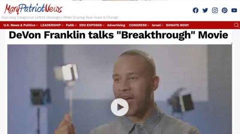 """DeVon Franklin talks """"Breakthrough"""" Movie"""