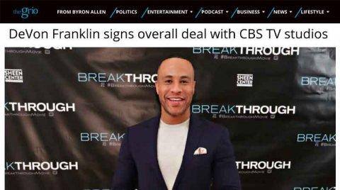 DeVon Franklin signs deal with CBS TV