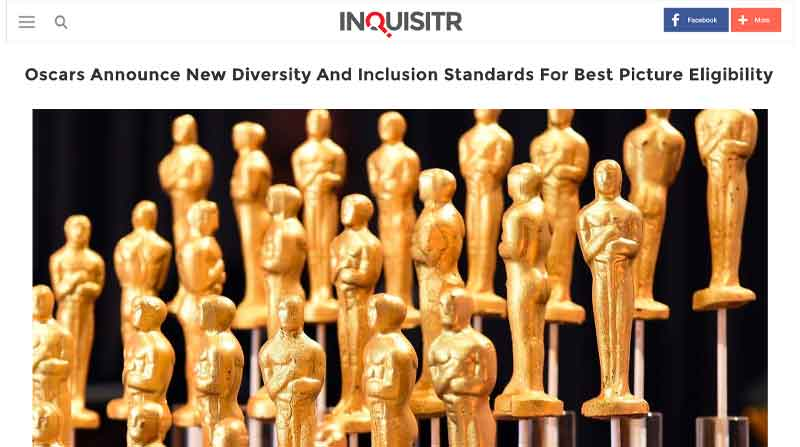 Oscars Announce New Diversity And Inclusion Standards For Best Picture Eligibility