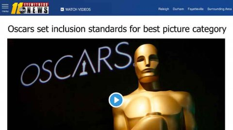 Oscars set inclusion standards for best picture category