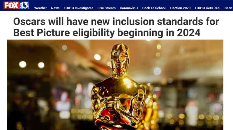 Oscars will have new inclusion standards for Best Picture eligibility beginning in 2024