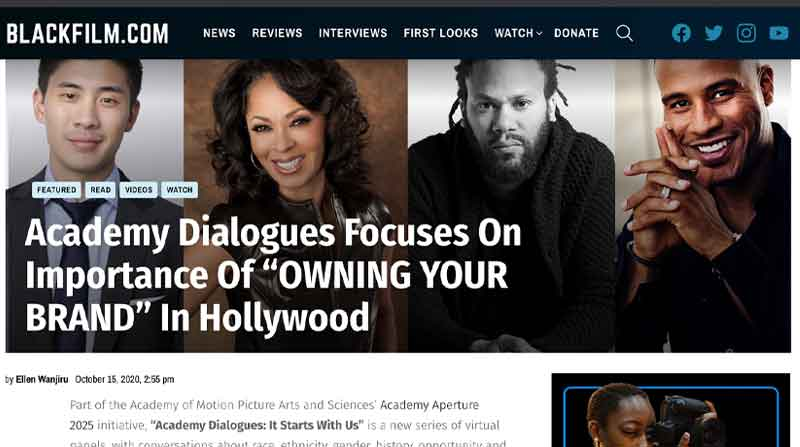 "Academy Dialogues Focuses On Importance Of ""OWNING YOUR BRAND"" In Hollywood"
