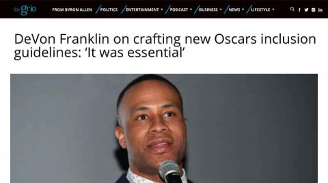 DeVon Franklin on crafting new Oscars inclusion guidelines: 'It was essential'