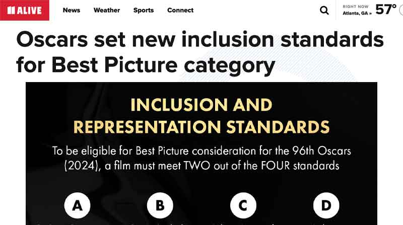Oscars set new inclusion standards for Best Picture category
