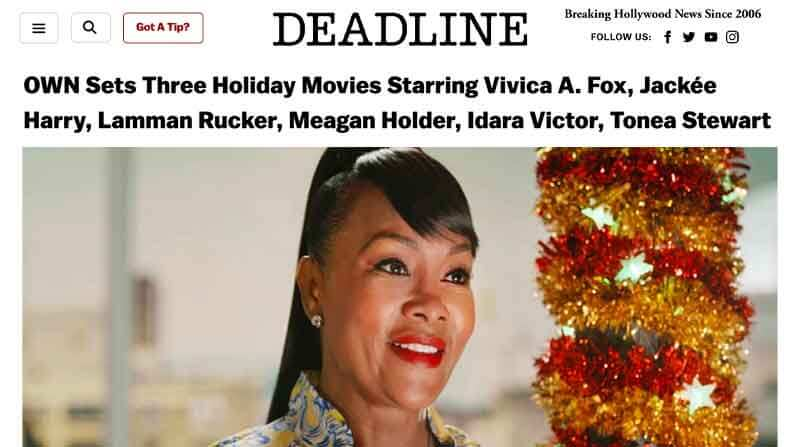 OWN Sets Three Holiday Movies Starring Vivica A. Fox, Jackée Harry, Lamman Rucker, Meagan Holder, Idara Victor, Tonea Stewart