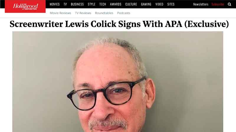 Screenwriter Lewis Colick Signs with APA