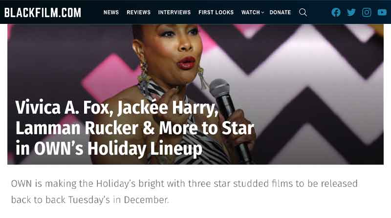 Vivica A Fox Jackee Harry Lamman Rucker More to Star in OWNs Holiday Lineup