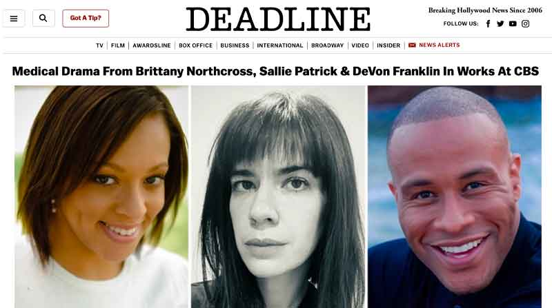 Medical Drama From Brittany Northcross, Sallie Patrick & DeVon Franklin In Works At CBS